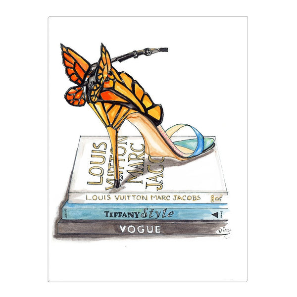 Butterfly Wing Sandal Canvas Wrap - A Wincy Glass N Design
