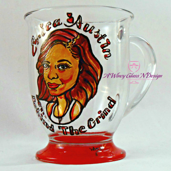 Custom Caricature Glass Mug - A Wincy Glass N Design
