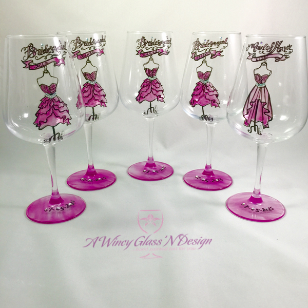 Bridesmaids wine glasses, bridesmaids gifts