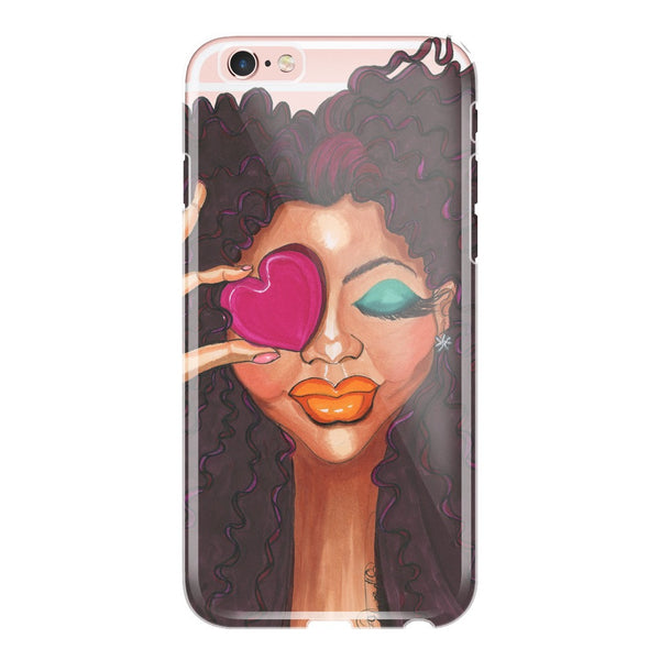 Loving Me Fashion Illustration Phone Cases - A Wincy Glass N Design
