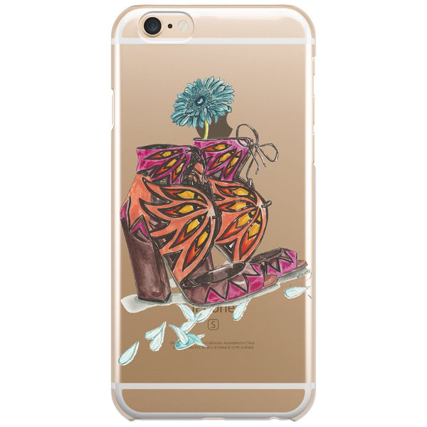 Sandals N Daisy Petals Fashion Illustration Phone Cases - A Wincy Glass N Design