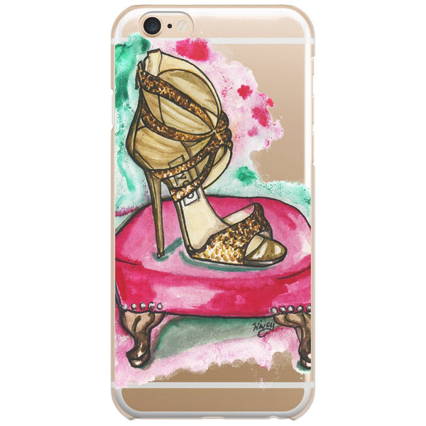 Glitter Sandal Fashion Illustrated Phone Case - A Wincy Glass N Design