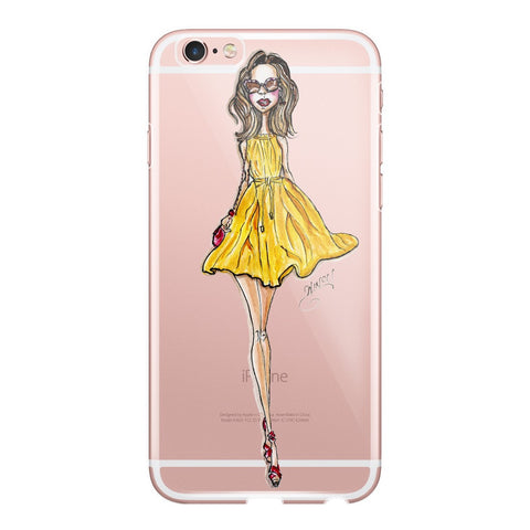 Miss Sunshine Fashion Illustration Phone Cases - A Wincy Glass N Design