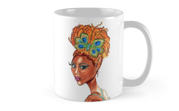 Peacock Butterfly Pinup Mug - A Wincy Glass N Design