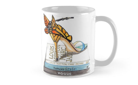 Butterfly Wing Sandal Mug - A Wincy Glass N Design