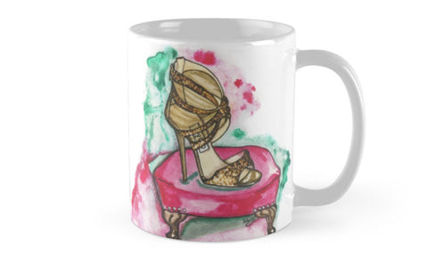 Glitter Sandal Mug - A Wincy Glass N Design