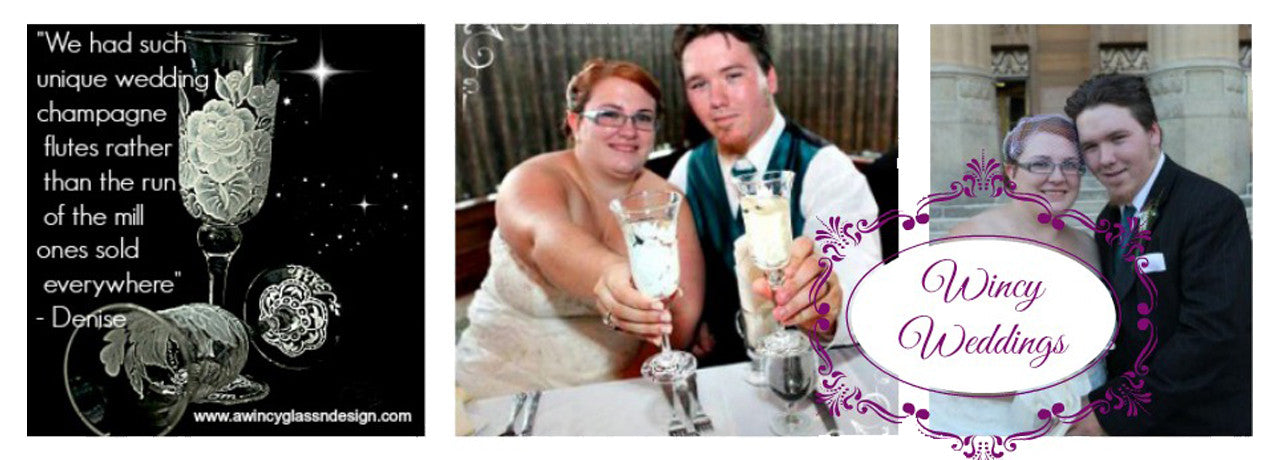 Wincy Weddings Hand Painted Glassware