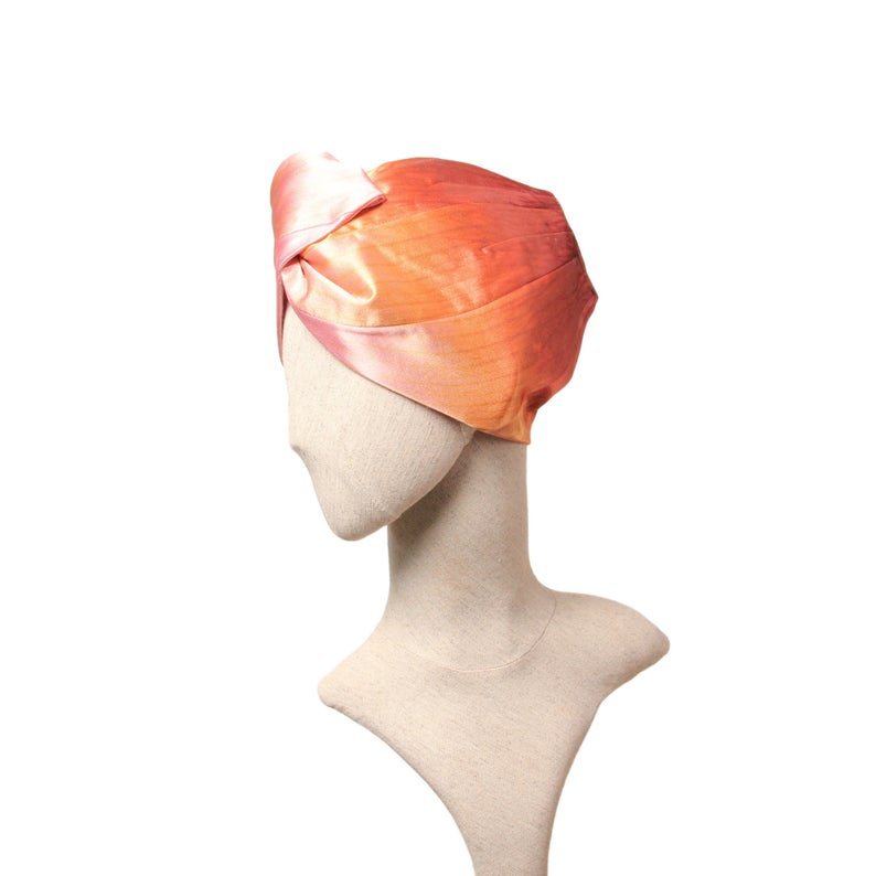 Pink and Orange Turban