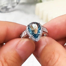 Load image into Gallery viewer, Big Pear Shape Cubic Zirconia Rings Vintage Party Accessories Luxury Jewelry for Women Lover's Birthday Gift
