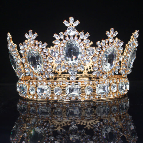 Women Crystal Queen Bridal Tiaras and Crowns Bride Headpiece Wedding Head Jewelry Accessories  Diadem Prom Hair Ornaments - www.eufashionbags.com