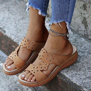 Women Sandals Plus Size Summer Sandals Shoes Heels Sandalias Mujer Soft Bottom Wedges Shoes - www.eufashionbags.com
