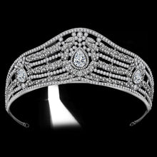 Load image into Gallery viewer, Luxury Women Hair Accessories Wedding Cubic Zirconia Rhinestone Bridal Tiaras Crowns Crystal Pageant Diadem Headband - EUFASHIONBAGS