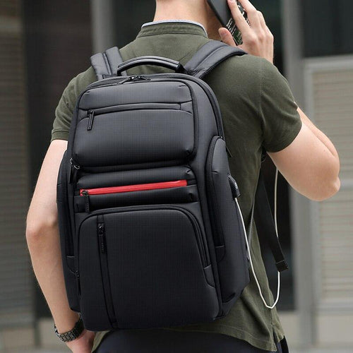 Large Capacity Business Laptop Backpack Men Multi Function USB Charging Travel Backpack School Bag for Teenager - www.eufashionbags.com