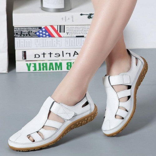 Genuine Leather Women Sandals Gladiator Ladies Summer Beach shoes Hollow out sandles Hot sandalias