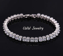 Load image into Gallery viewer, Fashion Cubic Zirconia Crystal Tennis Charm Bracelets Women Chain Link Bracelet Jewelry Gift - www.eufashionbags.com