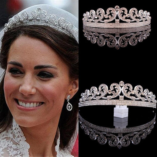 Women Wedding Hair Accessories Baroque Princess Diana William Kate Bridal Crown Tiaras Boutique Rhinestone Diadem Veil Tiara Headbands - www.eufashionbags.com