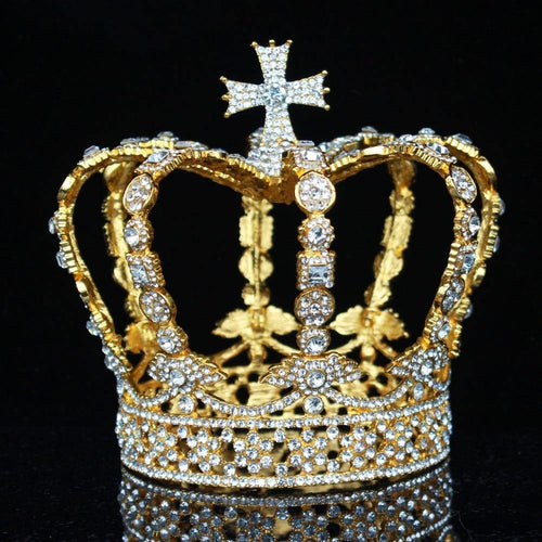 Crystal Vintage Royal Queen King Tiaras and Crowns Women Pageant Prom Diadem Wedding Hair Jewelry Accessories - www.eufashionbags.com