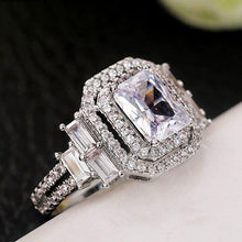 Load image into Gallery viewer, New Trendy Bridal Wedding Eternity Rings AAA Crystal Cubic Zirconia Luxury Engagement Ring for Women Statement Jewelry - www.eufashionbags.com