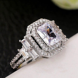 New Trendy Bridal Wedding Eternity Rings AAA Crystal Cubic Zirconia Luxury Engagement Ring for Women Statement Jewelry - www.eufashionbags.com