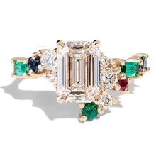 Load image into Gallery viewer, Colorful Big Square CZ Rings for Women Gold Color Bridal Wedding Party Rings Female Statement Jewelry - www.eufashionbags.com