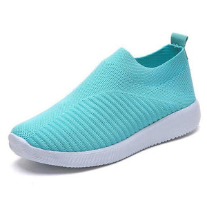 Casual Women Shoes Plus Size Sneakers Women's Breathable Mesh Sports Shoes Female Slip On Platform Sneakers o01