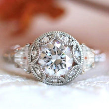 Load image into Gallery viewer, New Women Wedding Engagement Band Jewelry Rings Silver Color with Round Zircon Crystal Female Accessories - www.eufashionbags.com