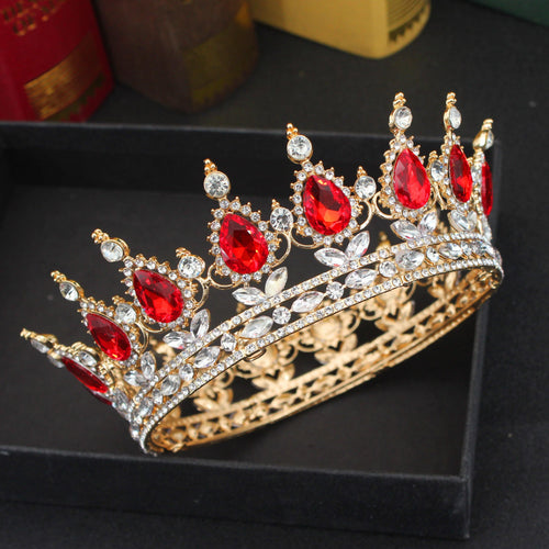 Women Hair Accessories Crystal Queen King Tiaras Crowns Bridal Diadem Headpiece Ornaments Wedding Head Jewelry - www.eufashionbags.com
