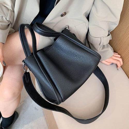 Casual Cute Small PU Leather Crossbody Bags for Women 2021 Winter Shoulder Handbags Travel Totes Bag