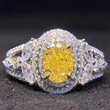 Load image into Gallery viewer, Oval Yellow CZ Women Finger Ring Bright Vintage Party Female Elegant Accessories High Quality Jewelry - www.eufashionbags.com