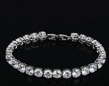 Load image into Gallery viewer, Fashion White Gold Color Round Cubic Zirconia Tennis Bracelet Jewelry for Women