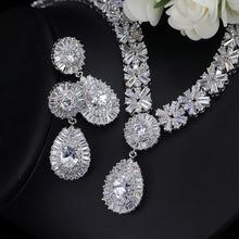 Load image into Gallery viewer, Fashion 4 Piece/set Cubic Zirconia Women Wedding Jewelry Set Necklaces Earrings Bracelet Ring - EUFASHIONBAGS