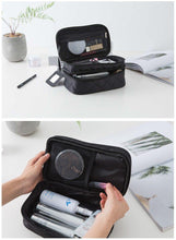 Load image into Gallery viewer, Women Makeup Bags Large Travel Cosmetic Bag Waterproof Nylon Organizer Case Wash Toiletry Bag - EUFASHIONBAGS