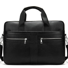 Load image into Gallery viewer, Genuine Leather Men's Briefcase Men's Laptop Bags Lawyer/Office Bag Men Documents Bag  W209 - EUFASHIONBAGS