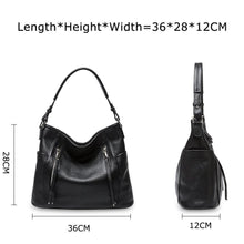Load image into Gallery viewer, Genuine Leather Women Bag Daily Handbag Shoulder Tote Crossbody Hobo Zipper Pocket Z26 - EUFASHIONBAGS