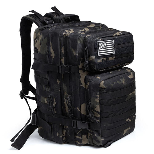 MEN women 50L Camouflage Army Backpack Military Tactical Bags Hunting Waterproof OutBag - EUFASHIONBAGS