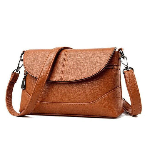 High Quality Soft Leather Women Crossbody Bags Shoulder Messenger Bag v10 - EUFASHIONBAGS