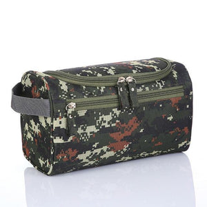 Men cosmetic bag Waterproof oxford toiletry bag travel organizer mill sand Beautician case Bath Wash bag - EUFASHIONBAGS