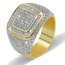 Load image into Gallery viewer, CZ Square Cubic Zirconia Men Rings  Hip Hop jewelry gift - EUFASHIONBAGS