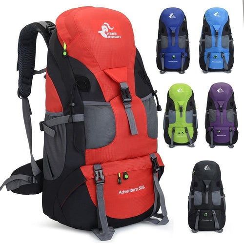 WOMEN MEN 50L Camping Backpack Hiking Waterproof Trekking Bag Travel Rucksack - EUFASHIONBAGS