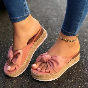 Fashion Women Summer Sandals Mid Heels Sandals Plus Size Wedges Shoes - EUFASHIONBAGS