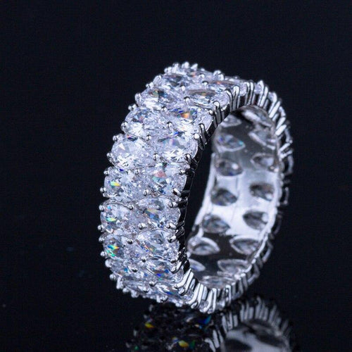 Fashion Women Cubic Zirconia Round CZ Wedding Engagement Rings Jewelry - EUFASHIONBAGS