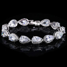 Load image into Gallery viewer, Fashion Women Cubic Zirconia Water Drop CZ Stone Bracelet Bridal Wedding Jewelry b02 - EUFASHIONBAGS