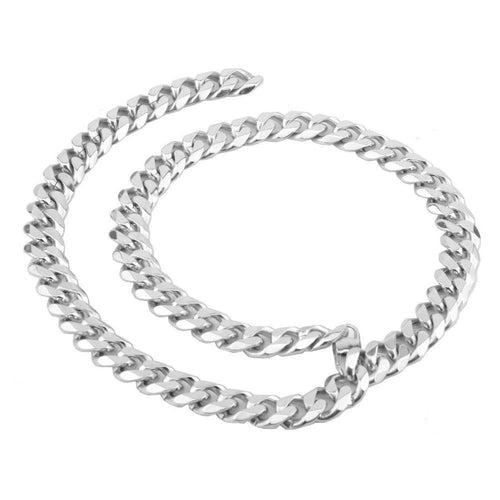 Fashion 15MM Stainless Steel Cuban Chain Choker Men Necklace Hip Hop Jewelry Gift - www.eufashionbags.com