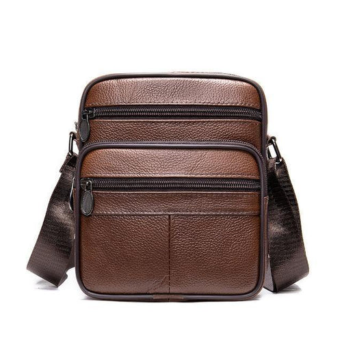 Messenger Bag Men Shoulder Bags Genuine Leather Small Crossbody Bags Small Flap Handbags w0505 - EUFASHIONBAGS