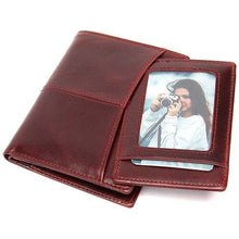 Load image into Gallery viewer, Genuine Leather Men Short Wallets Vintage Man Small Zipper Purses - EUFASHIONBAGS