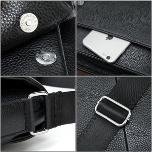 Genuine Leather Men's Flap messenger bag Shoulder bag crossbody bags - EUFASHIONBAGS