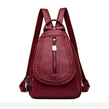 Load image into Gallery viewer, Women Genuine Leather Backpacks Zipper Chest Bag Travel Back Pack School Bags For Teenage Girls - EUFASHIONBAGS