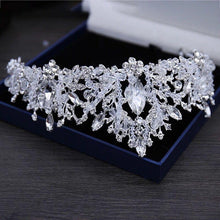 Load image into Gallery viewer, Baroque Crystal Beads Bridal Jewelry Sets Rhinestone Tiaras Crown Necklace Earrings Wedding African Beads Jewelry Set - EUFASHIONBAGS