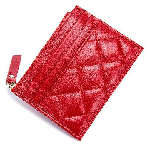 Sheepskin Soft Coin Purses High Quality Multi-function Plaid Style Card Wallets - EUFASHIONBAGS