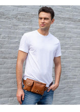 Load image into Gallery viewer, Genuine Leather Men Waist Packs Waist Bags Travel Fanny Pack Belt Bag Phone Bags - EUFASHIONBAGS